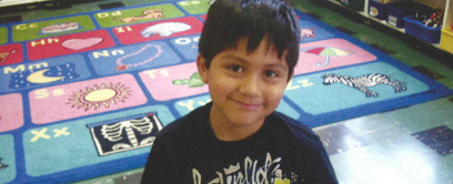 picture of a preschool smily child