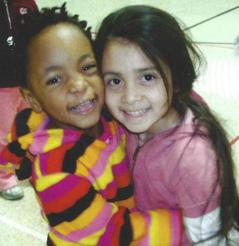 Happy preschool children